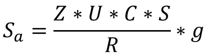 Spectral Acceleration Formula