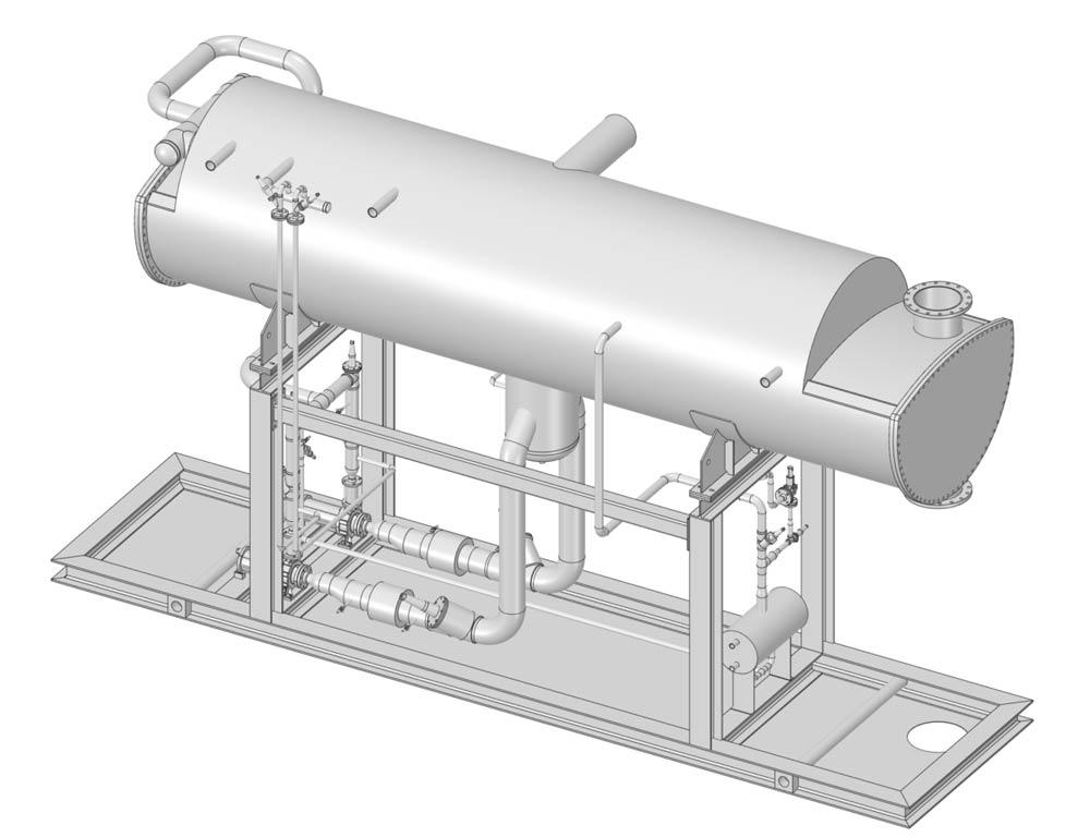 Pressure vessel frame